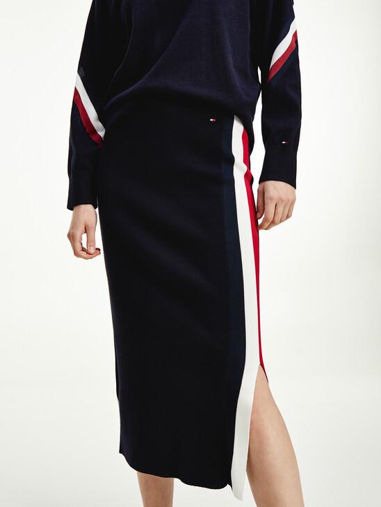 Signature Trim Midi Skirt