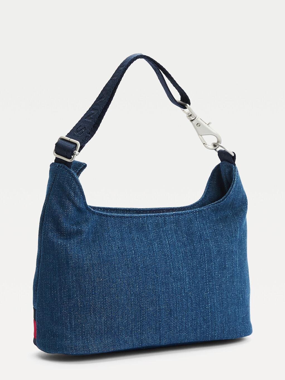 Tommy Badge Denim Shoulder Bag