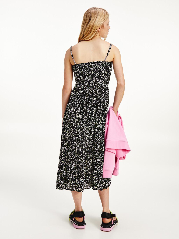 Floral Print Viscose Midi Dress