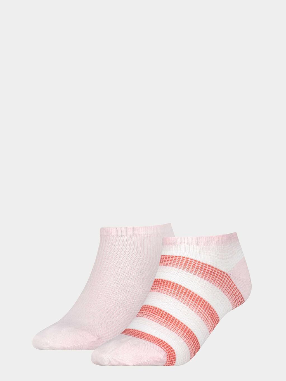 2-Pack Gradient Stripe Sneaker Socks