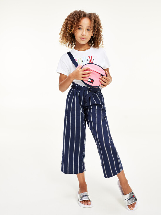 Stripe Paperbag Waist Trousers