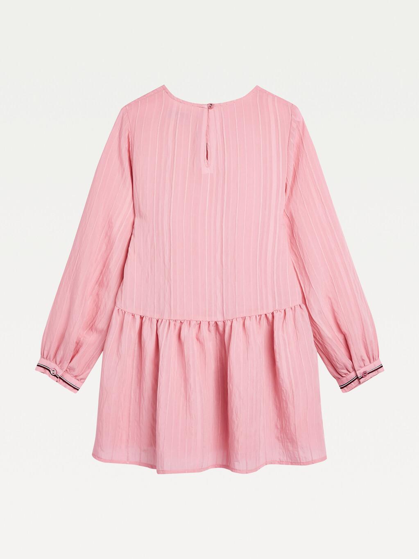 Textured Stripe Long Sleeve Dress