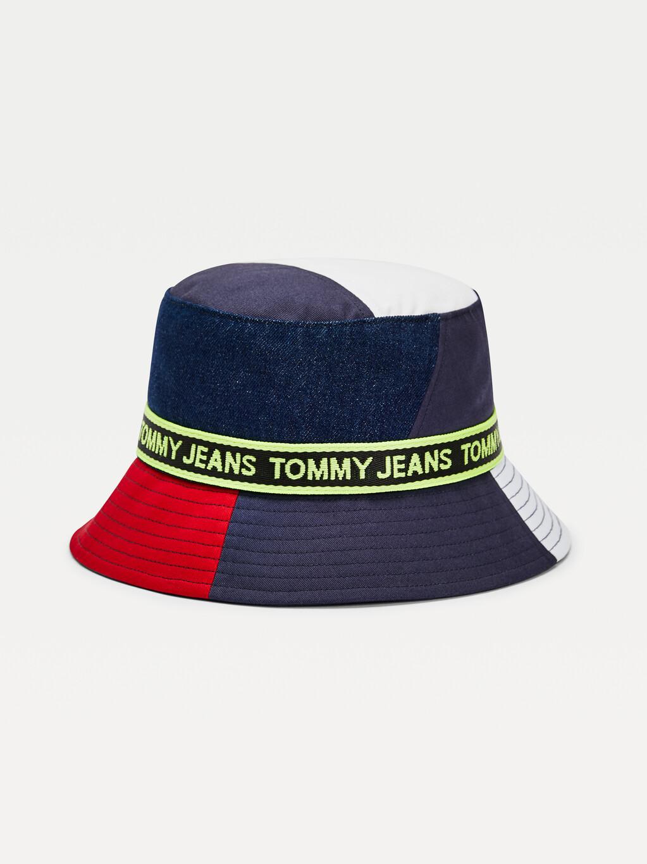Logo Tape Colour-Blocked Bucket Hat