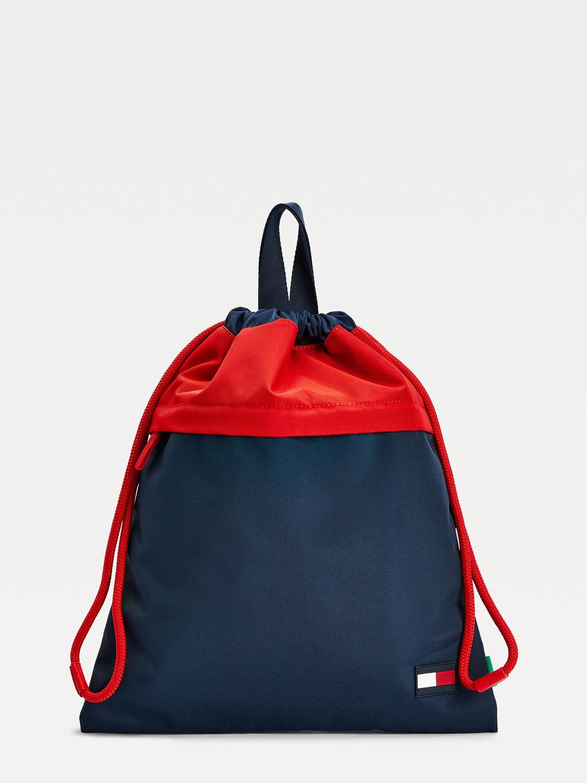 Kids' Colour-Blocked Drawstring Bag