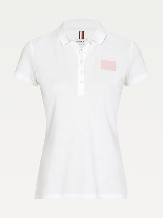 Stretch Cotton Pique Slim Fit Polo
