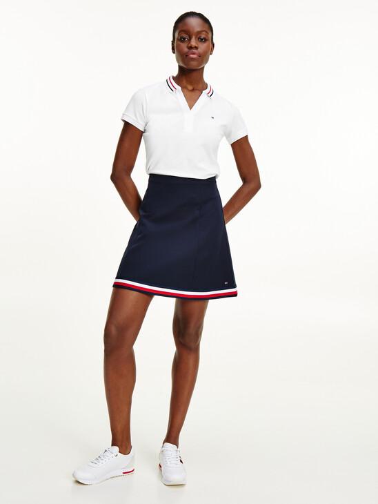 Signature Tape Short Skirt