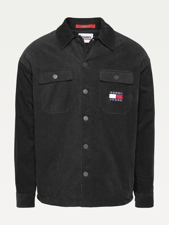 Tommy Badge Corduroy Sherpa-Lined Overshirt