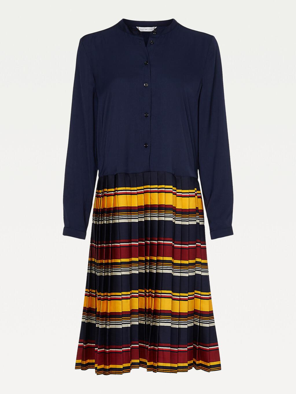 Stripe Skirt Shirt Dress