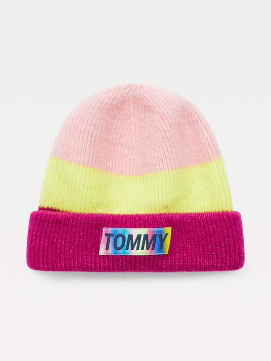 Youth Colour-Blocked Wool Blend Beanie