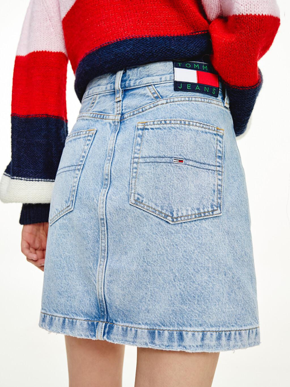Mom Fit Denim Mini Skirt