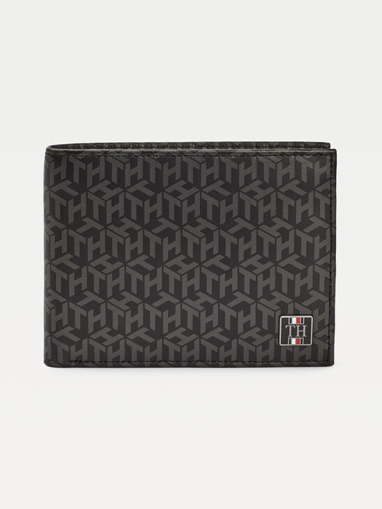 Monogram Print Leather Wallet