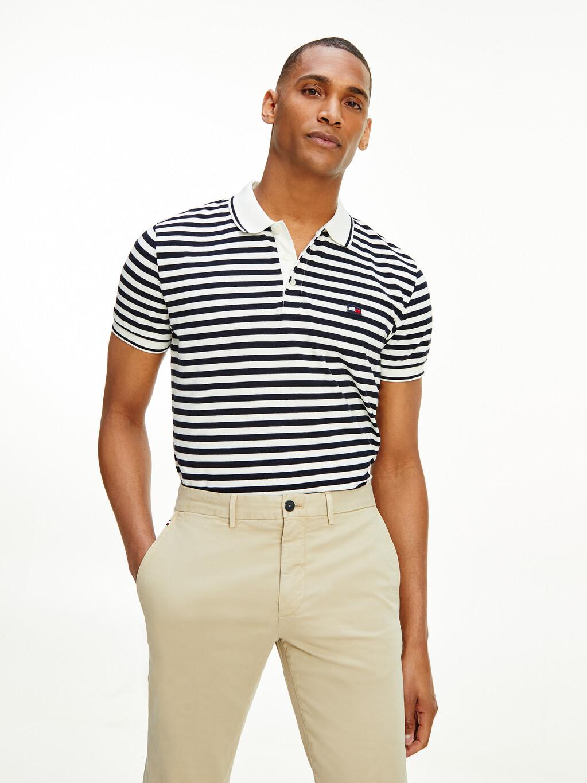 Stripe Motion Flag Regular Polo