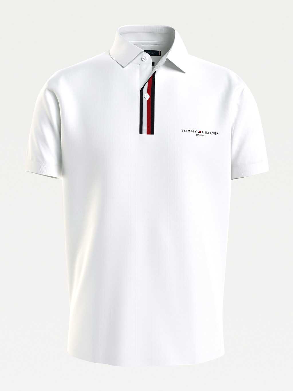 Stripe Placket Regular Fit Jersey Polo