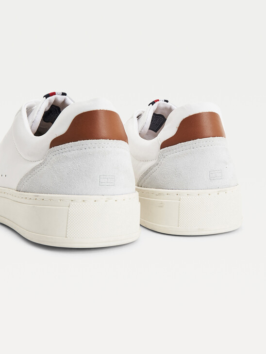 Leather And Suede Cupsole Trainers