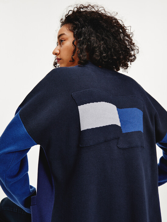Tommy Icons Motion Flag Graphic Cardigan