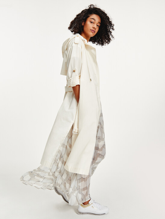 Tommy Icons Chiffon Pleated Maxi Skirt