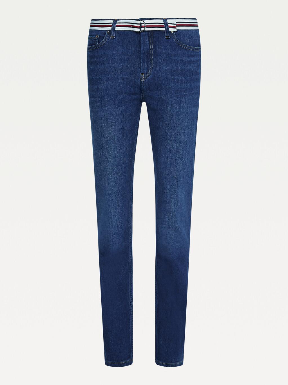 Rome Medium Rise Straight Jeans