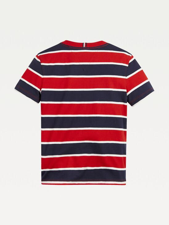 Stripe Organic Cotton Logo T-Shirt
