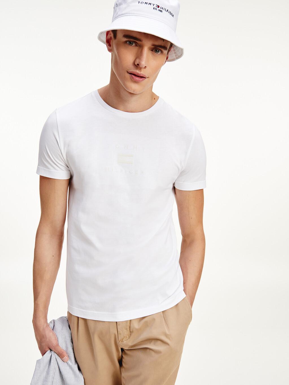 Organic Cotton Tonal Logo Embroidery T-Shirt