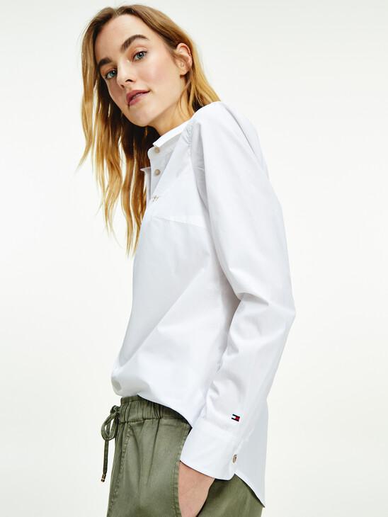 Cotton Poplin Signature Embroidery Shirt