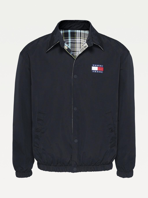 Reversible Checked Badge Jacket