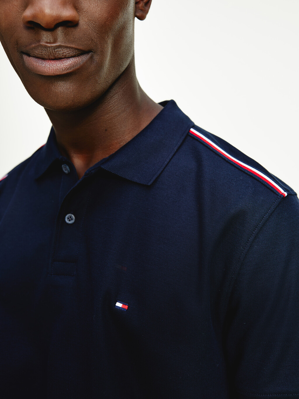 Striped Tape Polo Shirt