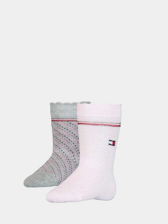 2-Pack Knee High Baby Socks