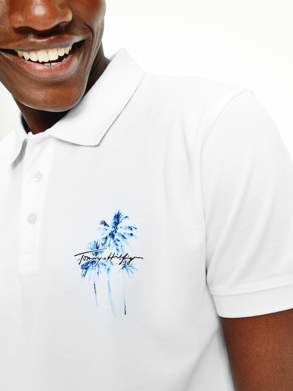 Palm Tree Print Regular Fit Polo