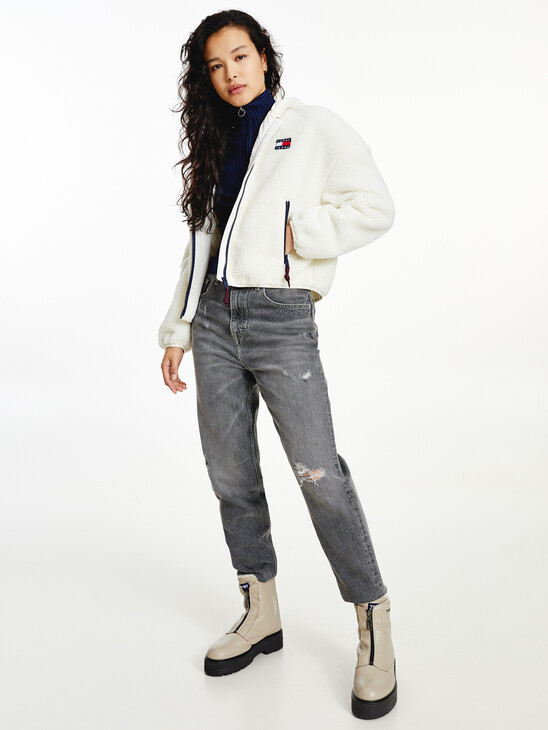 Tommy Badge Sherpa Hooded Jacket