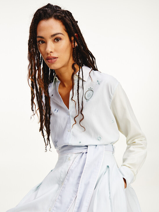 Tommy Icons Embroidery Relaxed Fit Shirt