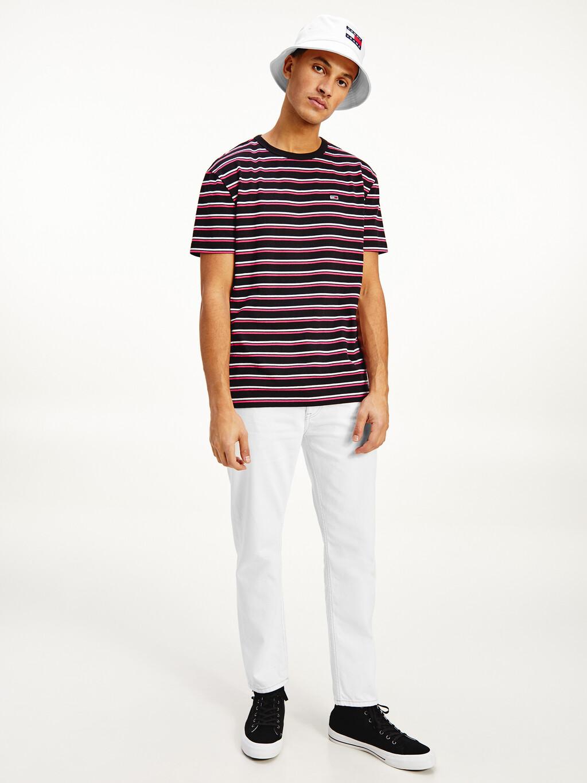Two-Tone Horizontal Stripe T-Shirt