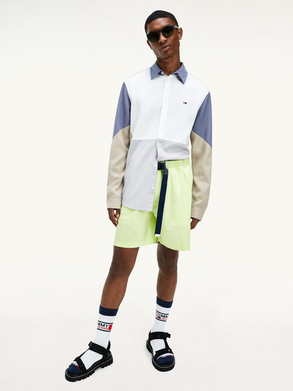 Colour-Blocked Woven Shirt