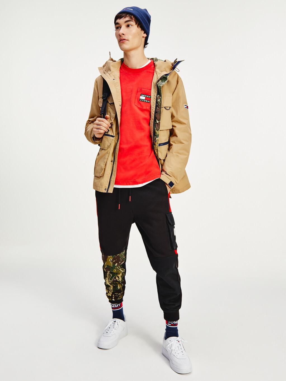 Multipocket Camouflage Trim Jacket
