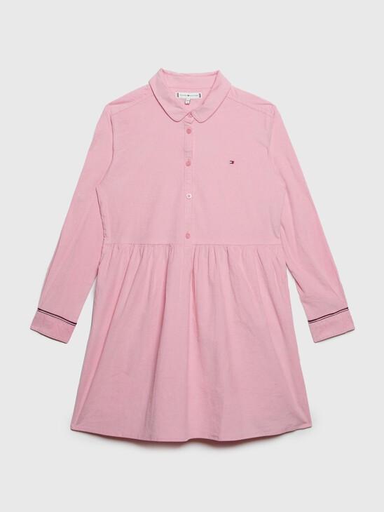 ORGANIC COTTON CORDUROY SHIRT DRESS