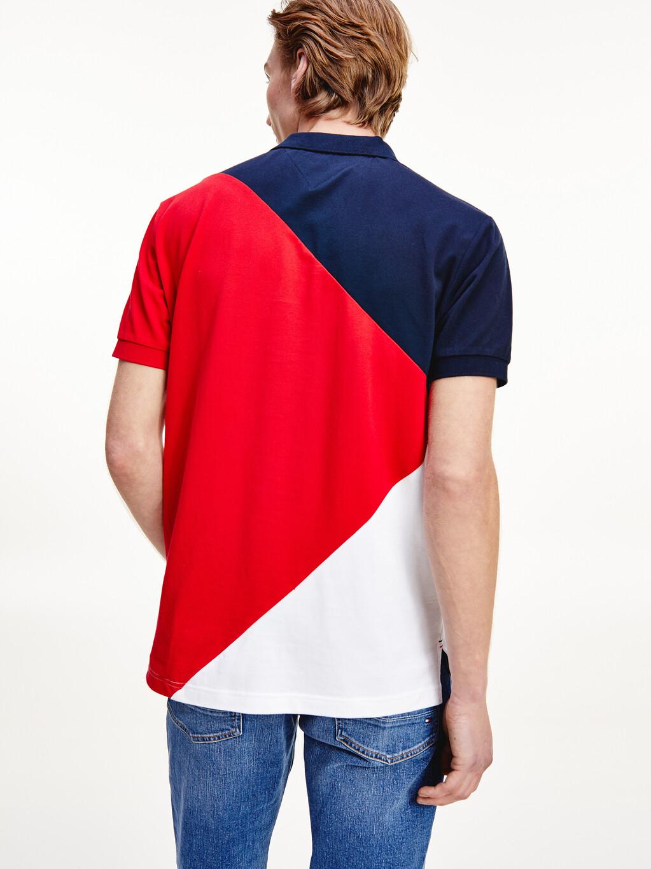 Diagonal Colour-Blocked Polo