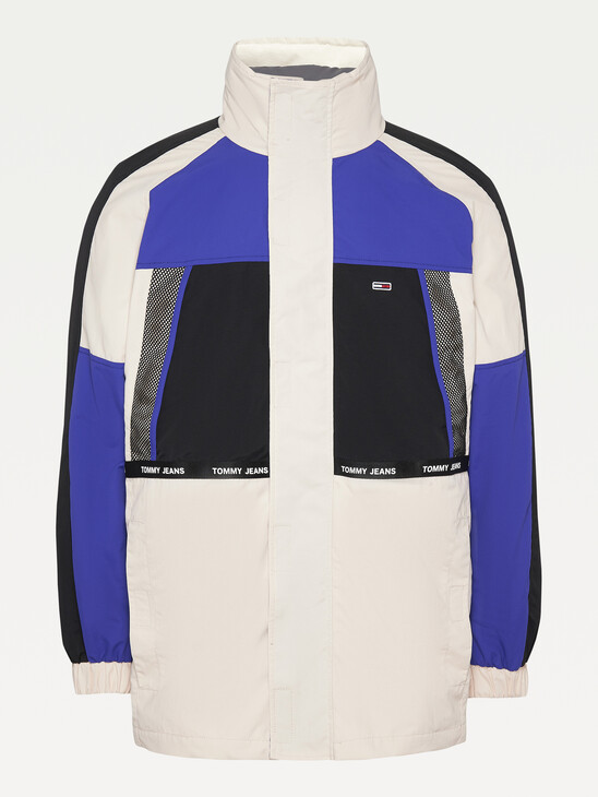 4-In-1 Colour-Blocked Padded Jacket