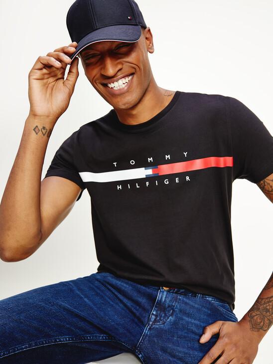 Organic Cotton Signature Tape Logo T-Shirt