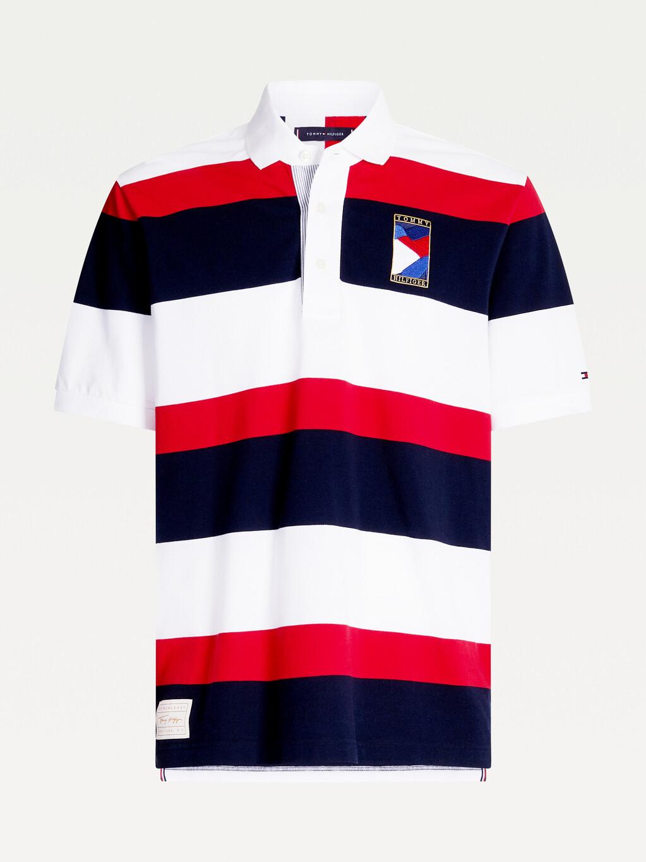 1985 Colour-Blocked Pure Cotton Polo