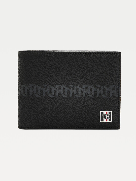 TH Monogram Leather Credit Card Wallet
