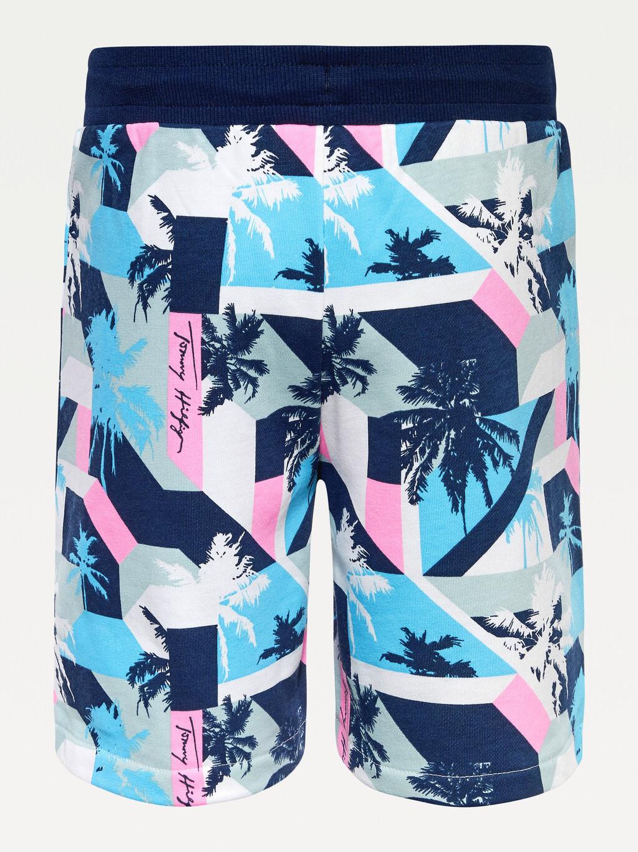 Palm Print Jogger Shorts