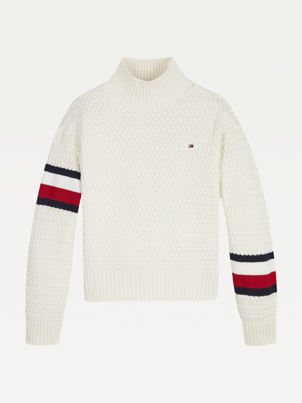 Chunky Cable Knit Mock Neck Jumper