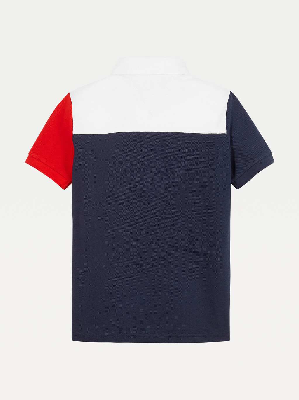Colour-Blocked Ithaca Stripe Polo