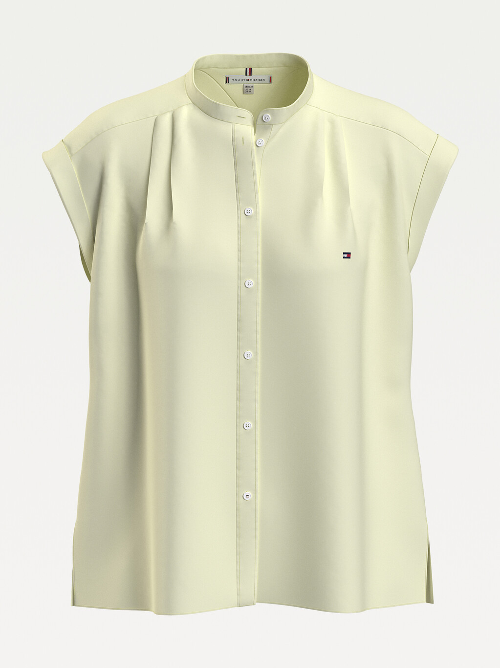 Cap Sleeve Relaxed Fit Oxford Shirt