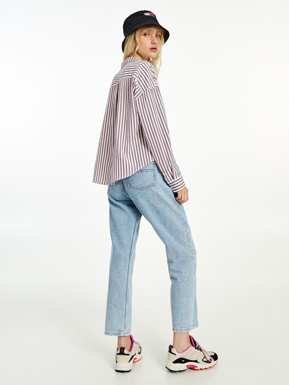 Stripe Boxy Oxford Cotton Shirt