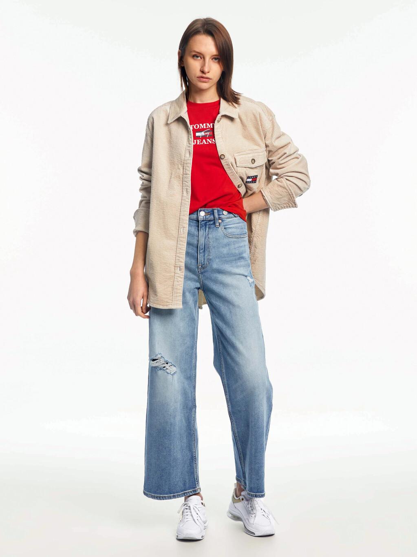 Tommy Badge Corduroy Oversized Fit Overshirt