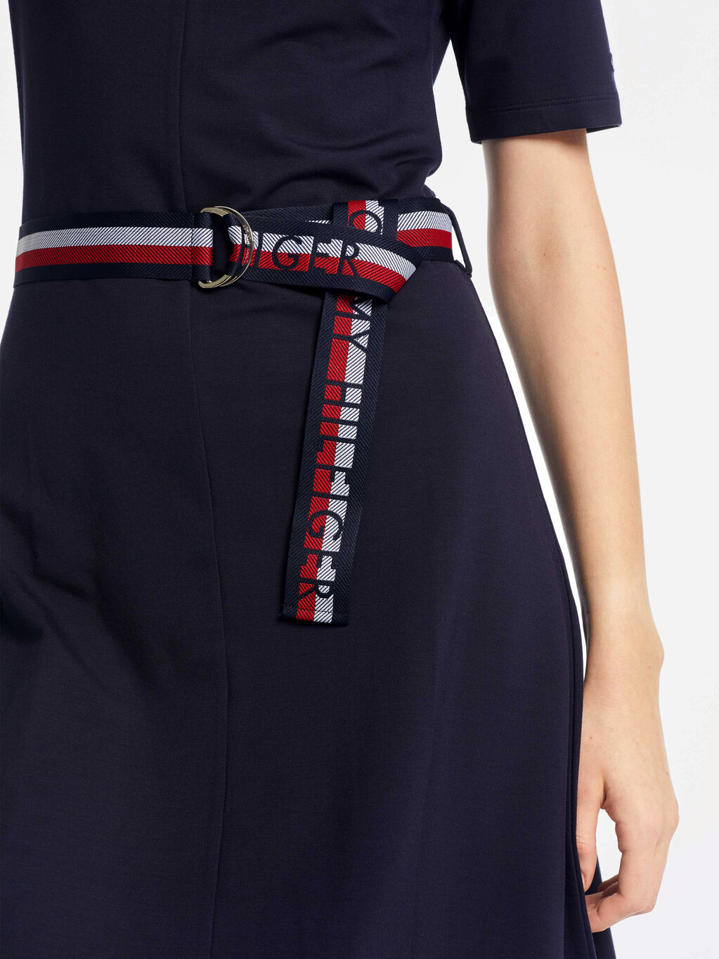 BELTED COTTON JERSEY DRESS