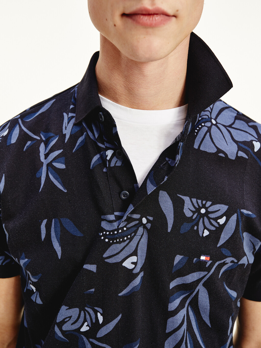Patchwork Floral Print Polo