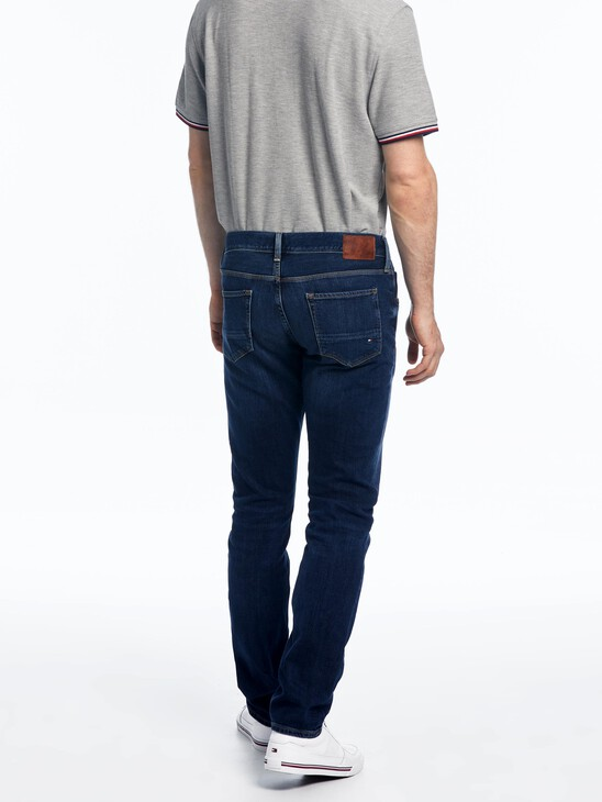 Straight Fit Faded Jeans