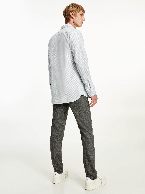 Micro Check Slim Fit Oxford Shirt