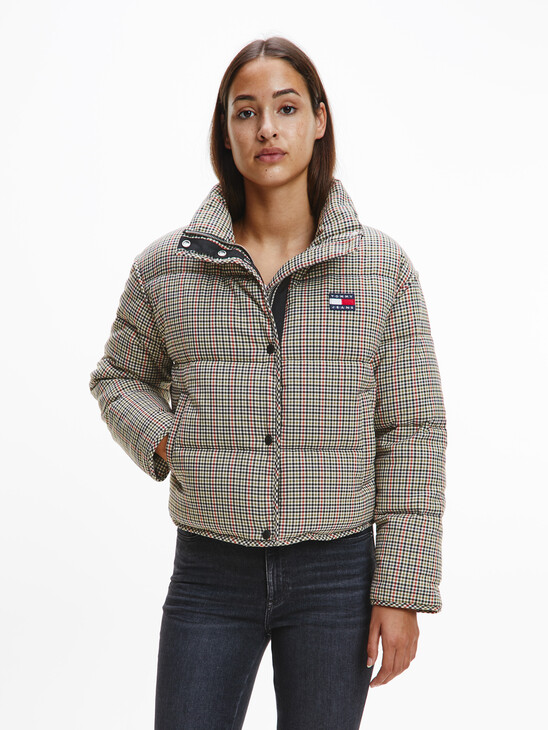 Tommy Badge Check Down Puffer Jacket